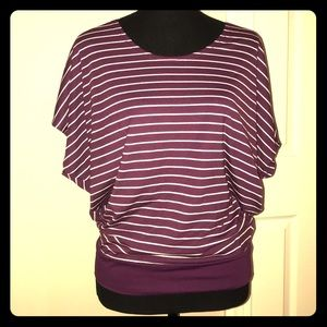 Stripes top with crochet back